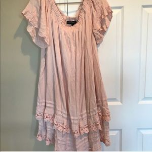 Lane Bryant boho ruffle dress
